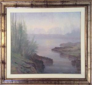 Angelo Comi – Paesaggio lacustre