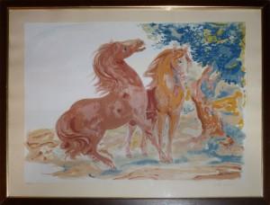 Aligi Sassu – Due Cavalli