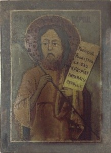 Icona su legno – Anonimo