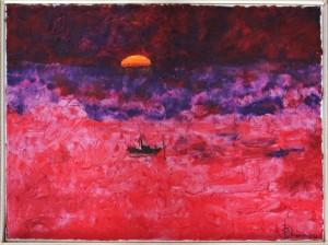 Giuseppe Saccomani – Tramonto in barca