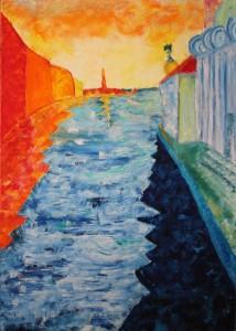 Giuseppe Saccomani – Arrivando in bacino di Venezia