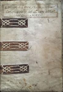 Riscontro di Entrata ed Uscita delli Vener: Congregazione del SS. Nome di Maria