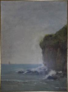 Luigi Bertelli – Scoglio in mare