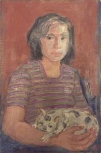 Errico Placido – Donna con gatto