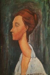 Giovanni Battista Cicutto – Ritratto di Lunia Czechowska (Omaggio a Modigliani)