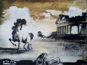 Angelo Turin – Cavalli con Tempio