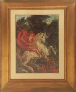 Aligi Sassu – San Giorgio e il drago