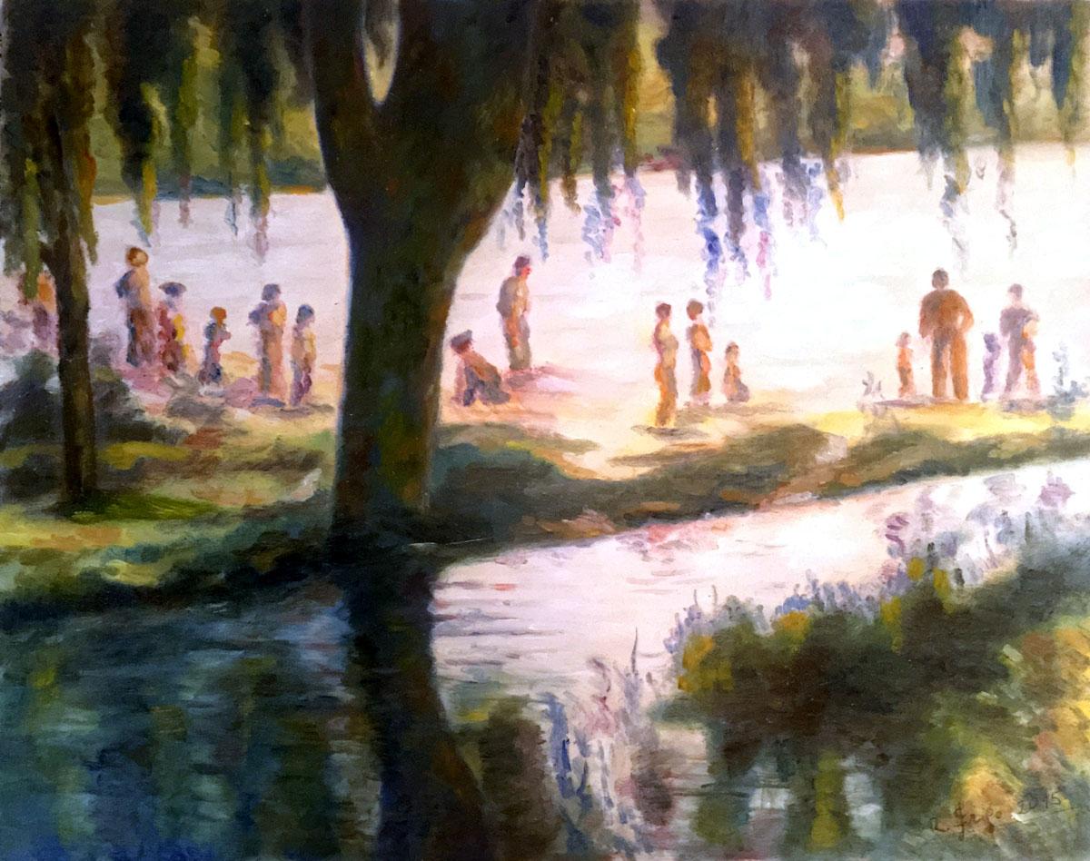 Roberto Frigo – Giornata luminosa sul lago