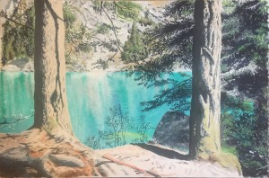 Getulio Cenci – Passeggiando sul lago di Braies