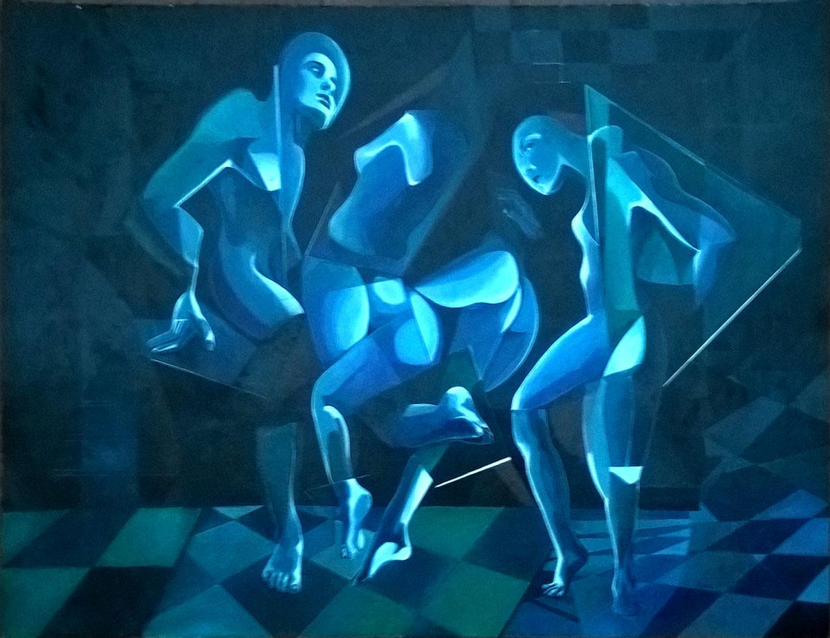 Evaldo Amatizi – Tre figure in movimento