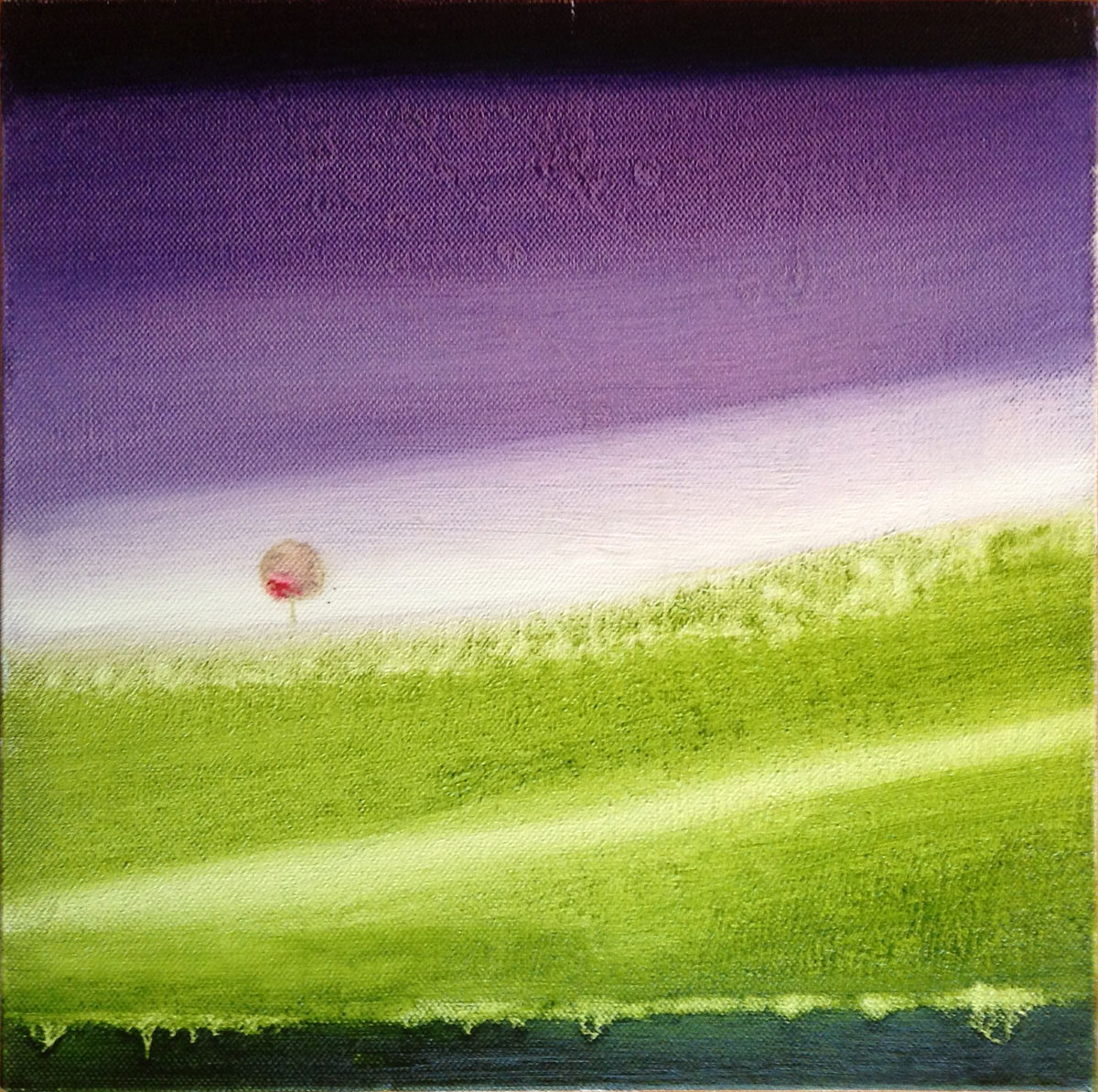 Giuliana Donati – Paesaggio in viola