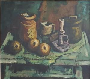 Giorgio Maggi – Tavolo con oggetti e frutta