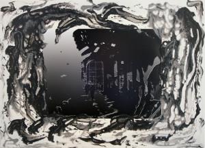 Roberto Denti – Milano i portici di Piazza Duomo-La Rinascente