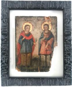 – Icona Russa raffigurante i  Santi Medici