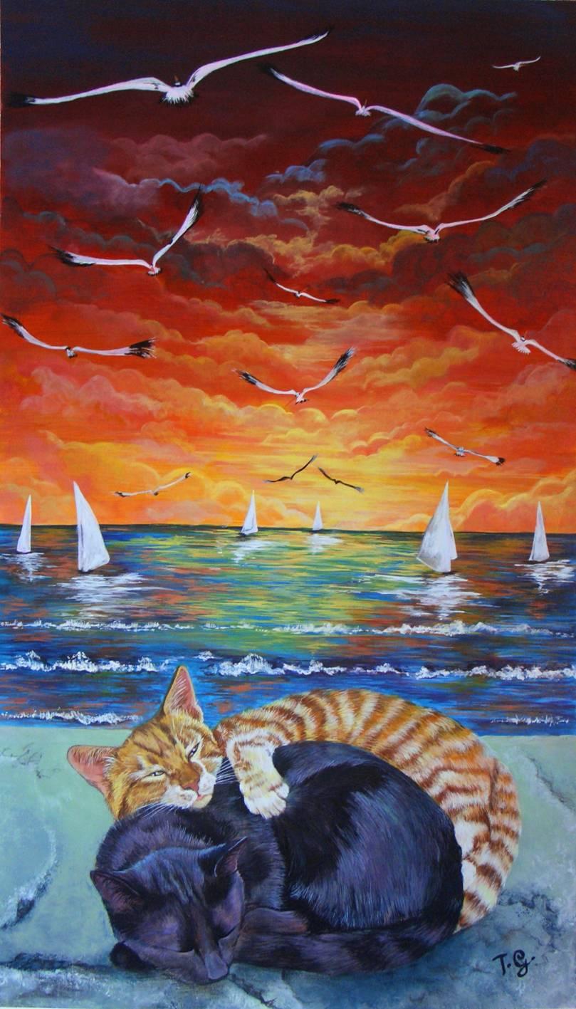 Tiziana Gualandi – Gatti al mare