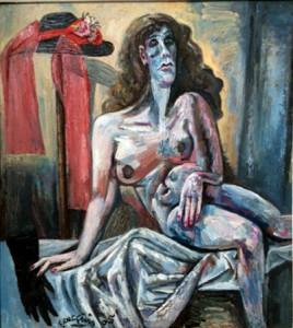 Giulio Ruffini – Nudo con guanto nero