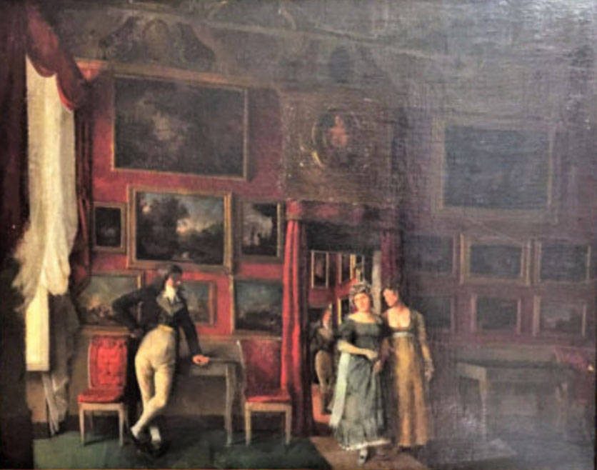 Artista sconosciuto salone settecentesco vendere quadri for Pittura salone