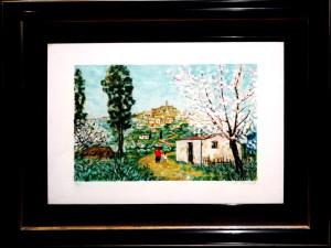 Michele Cascella – Paesaggio con mimosa