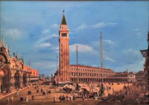 Barbarisi (copia d'autore da Canaletto) – Venezia, Piazza San Marco