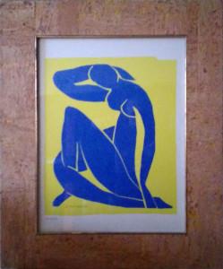 Matisse – Nudo blu su fondo giallo