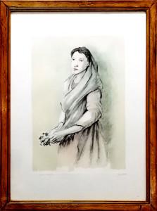 Domenico Purificato – Donna con fiori