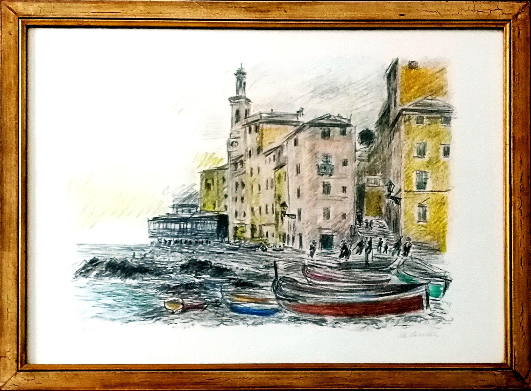 Michele cascella paesaggio marino vendere quadri for Disegno paesaggio marino