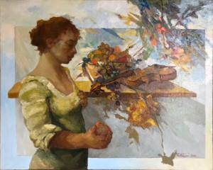 Antonio Notari – Donna e natura morta