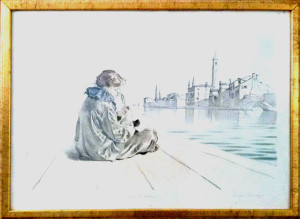 Romano Parmeggiani – Pierrot su laguna