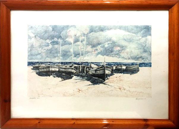 Vespignani- Paesaggio con barche