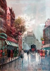 Giulio de Simone – Paesaggio Parigino