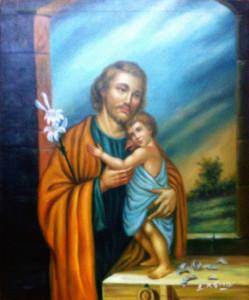 E. M. Grassi – San Giuseppe con bambino