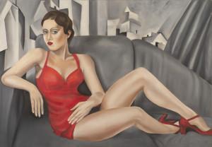 Lucia Battagliola – Donna sul divano