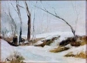 """Bruno Molinaro – Paesaggio invernale , """"nevicata"""""""