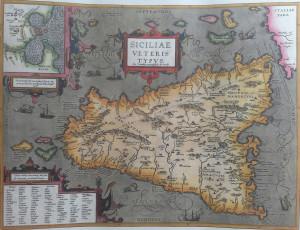 Abraham Ortelius – Carta dedicata alla Sicilia