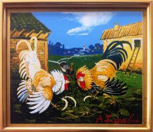 Antonio Ligabue – Combattimento di galli