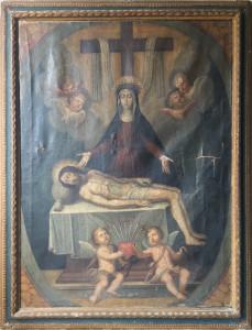 Artista sconosciuto – Madonna addolorata con deposizione Cristo morto