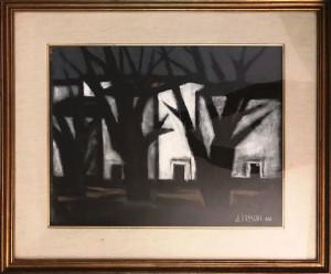 Attilio Freschi – Case bianche con alberi