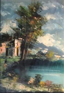 A. Giordano – Paesaggio con donna