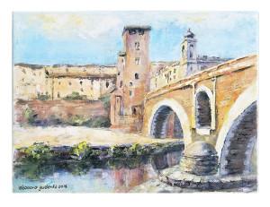 Eleonora Gudenko – Il Ponte Fabricio (Trastevere, Roma)