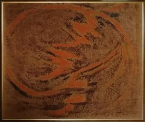 Salvatore Emblema – Informale arancio