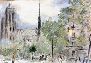 Michele Cascella – Paris 1955