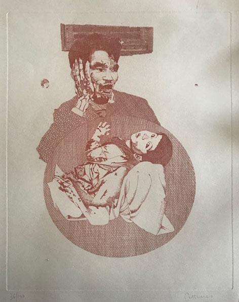 Cattaneo – Uomo con bambino in braccio