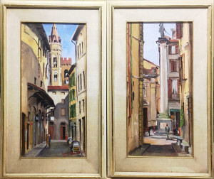 Mario D'Elia – Dittico Veduta di Firenze