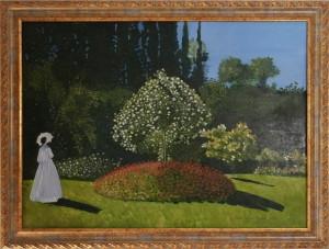 Antonietta Betrò – Donna in giardino, omaggio a Claude Monet