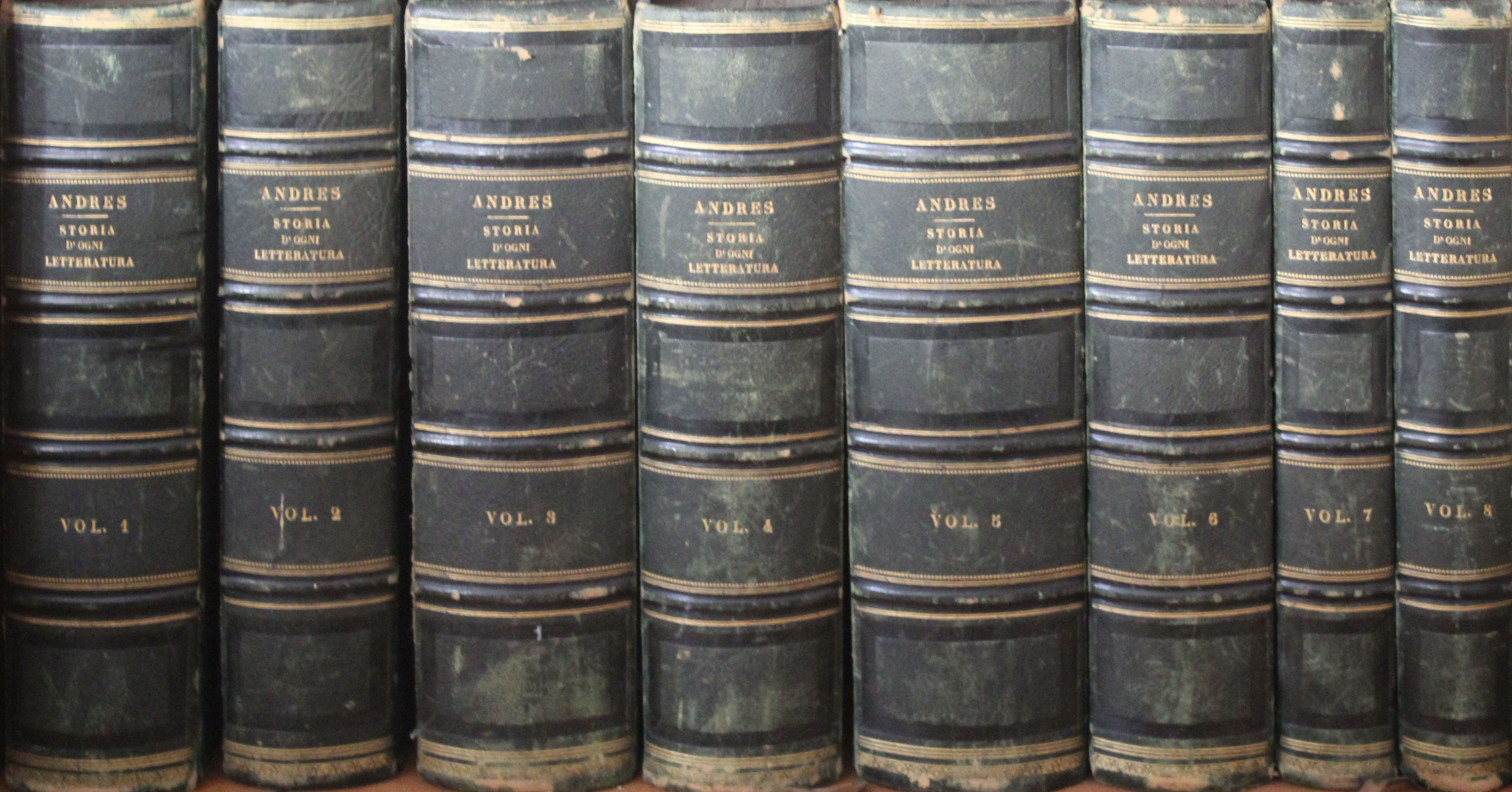 Storia d'ogni letteratura – Andres edizione bodoniana