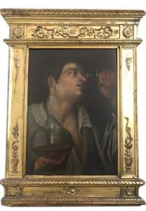 Artista sconosciuto – Uomo con calice di vino