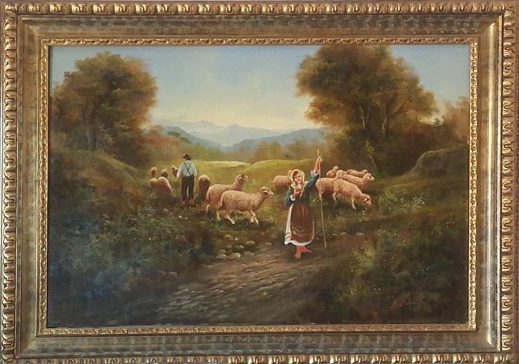 Cirillo Manicardi – Scena di campagna