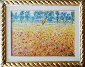 Michele Cascella – Campo di grano
