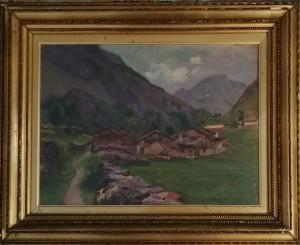 Alberto Rossi – Paesaggio in montagna