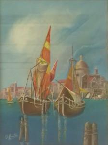 Umberto Fanutza – Paesaggio Lagunare